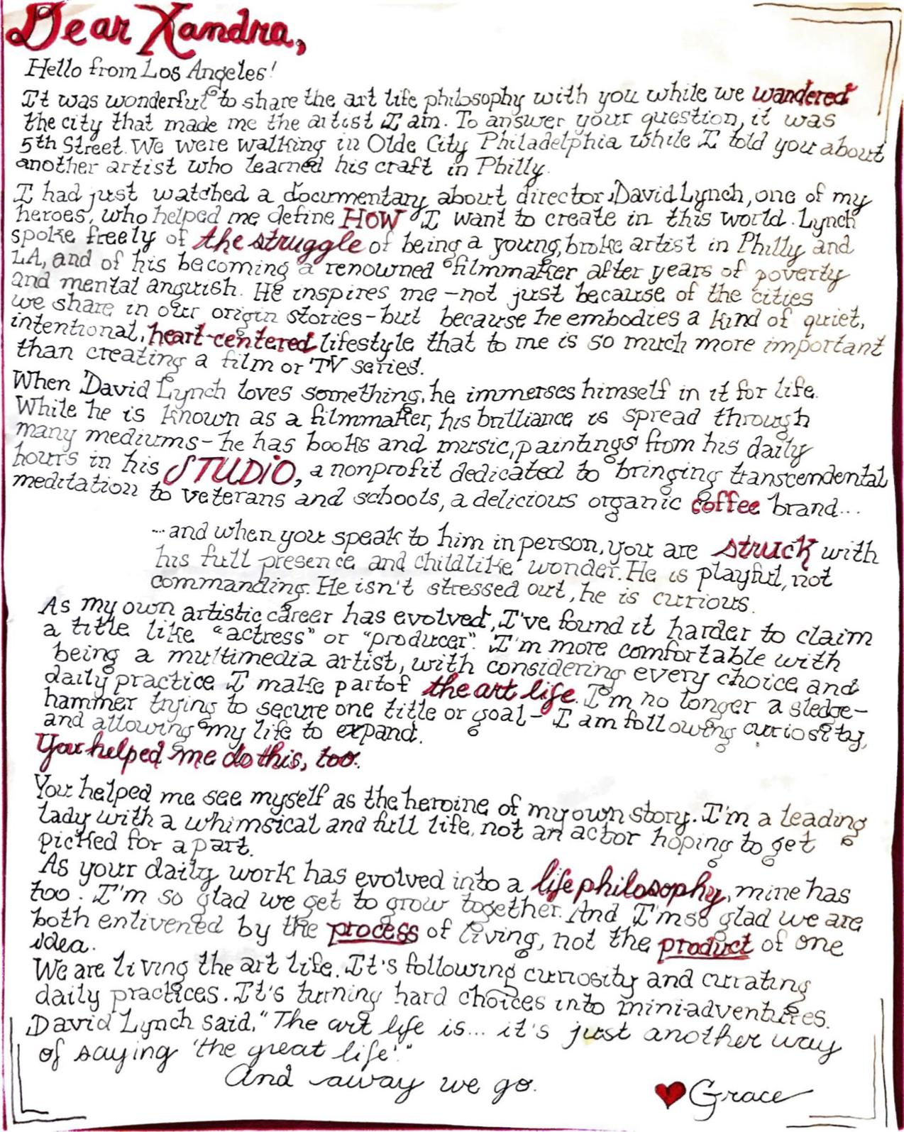 Dear Xandra