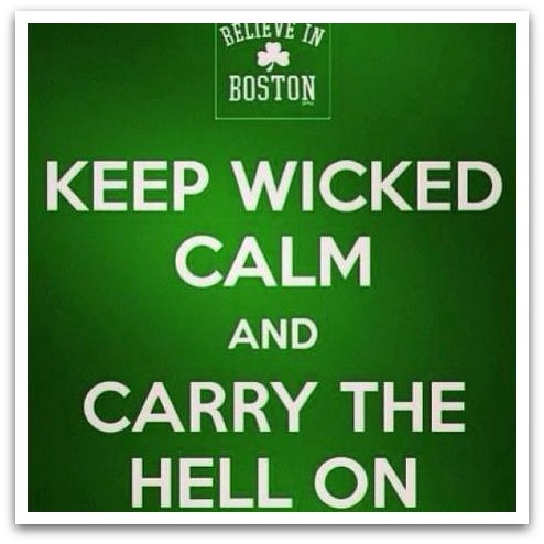 Thoughts on My Boston and How Unicorns. Help Keep Wicked Calm and Carry the Hell On.