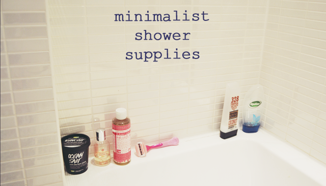 Minimalist Shower Supplies
