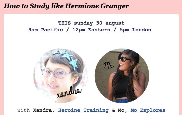 How to Study Like Hermione Granger - A #WizardingWebinar