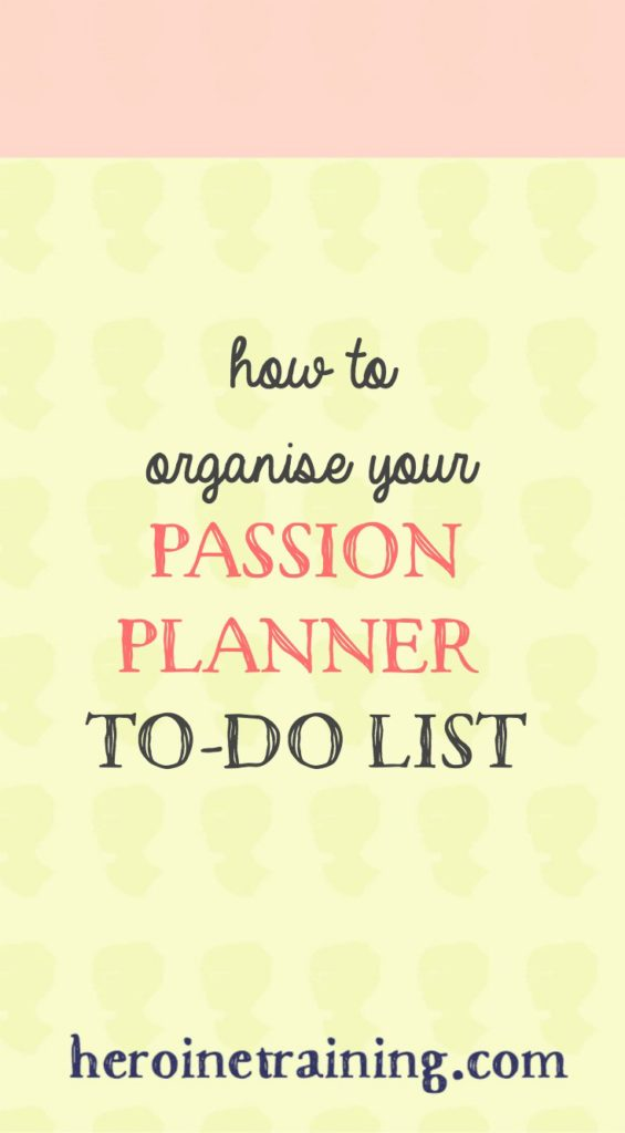 How to use the To-Do Section of Your Passion Planner