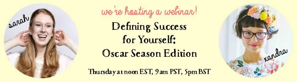Defining Success for Yourself: Oscar Season Edition
