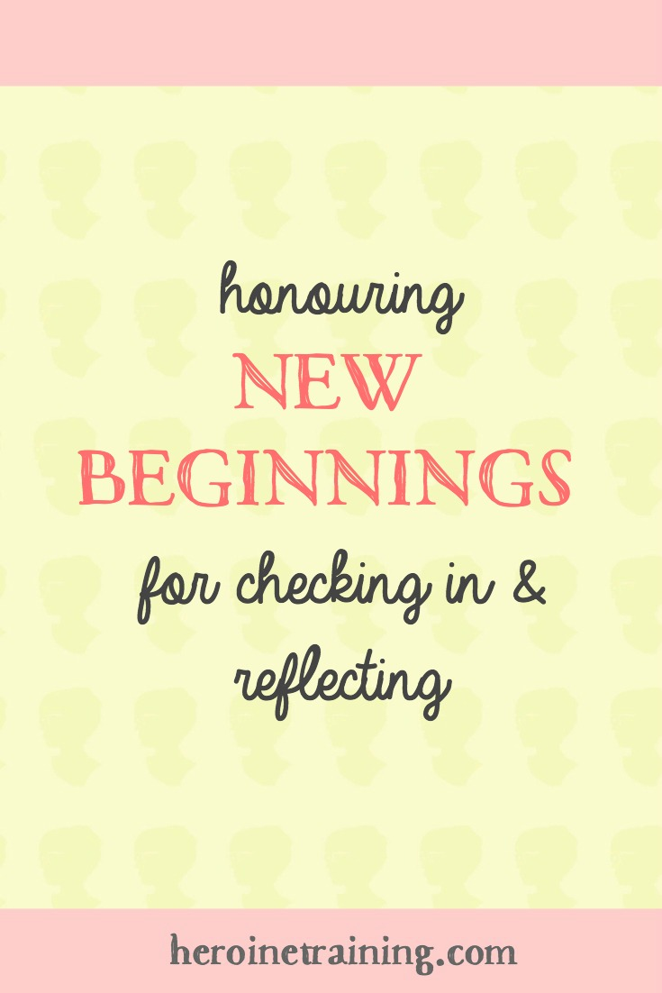 New Beginnings: Finding New Markers to Check in and Reflect
