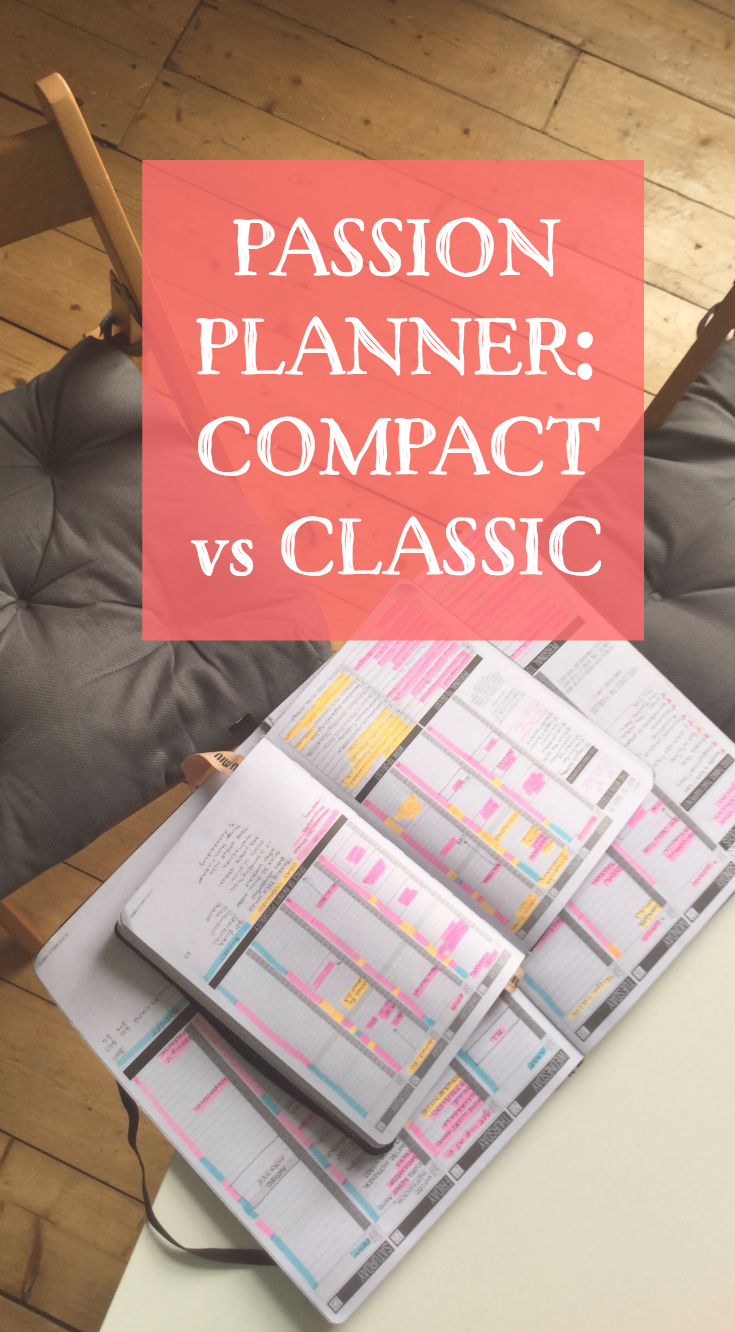 Passion Planner Sizes: Compact vs Classic