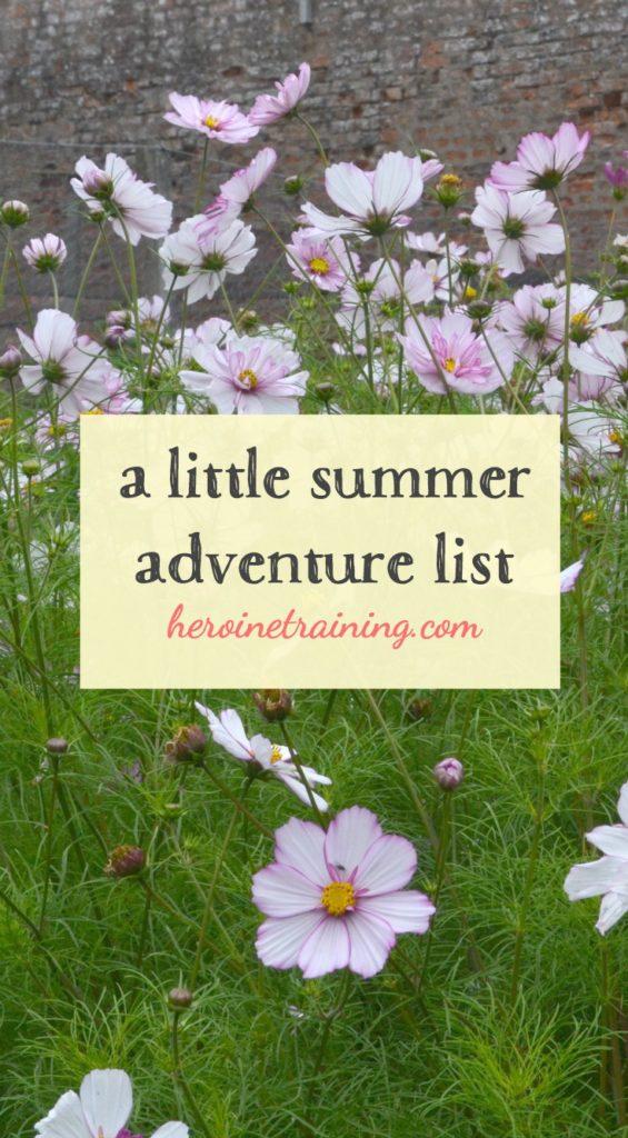 my little summer adventure list