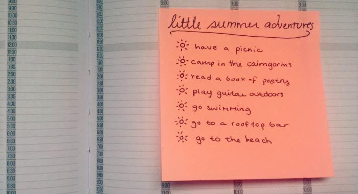 little summer adventure list