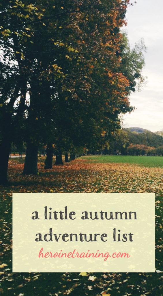 Little Autumn Adventure List