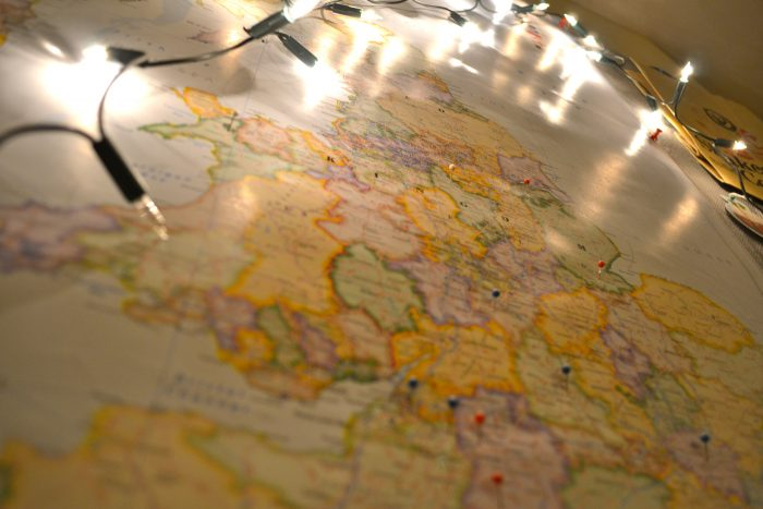 wanderlust without leaving your room ~ my love for maps & destination pins