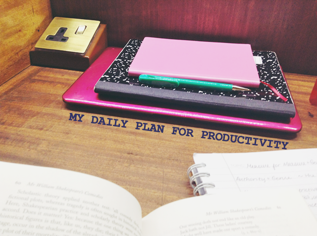 my daily plan for productivity