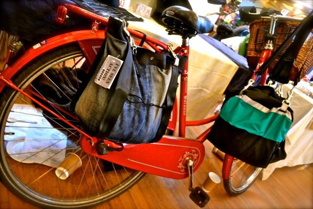 ^ Maria's I've Seen Action panniers double as messenger bags - they're available at Cowley Road's Indigo, one of the coolest shops in Oxford for all things ethical and beautiful.