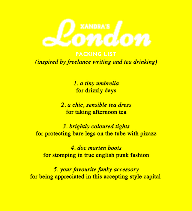 Kate Spade-Inspired Packing Lists