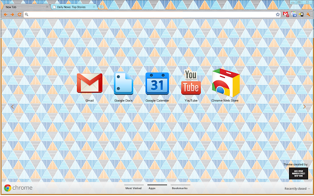 Adorable Chrome Browser Themes, Fit for a Heroine