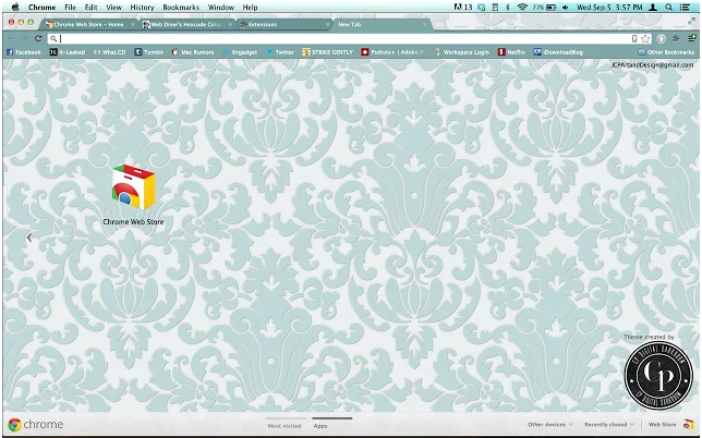 If Disney Princesses had Customized Chrome Themes...