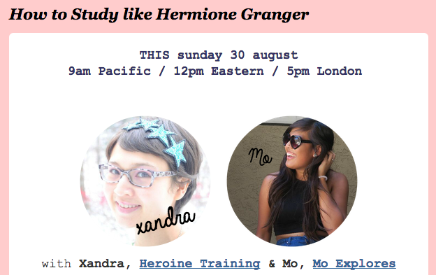 How to Study Like Hermione Granger - A #WizardingWebinar