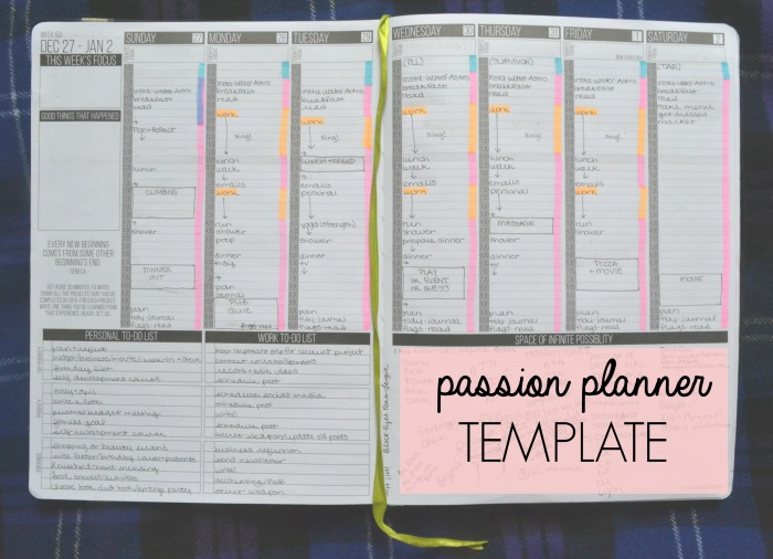 My Latest Passion Planner Tip: the Ideal Week Template