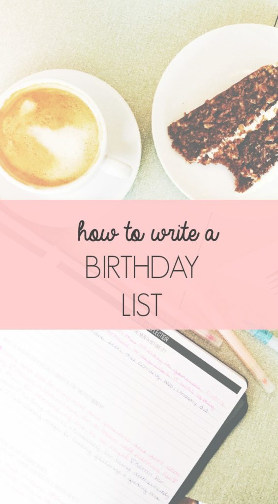 How to Write a Birthday List