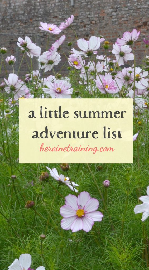 my little summer adventure list