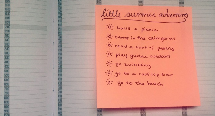 little summer adventure list
