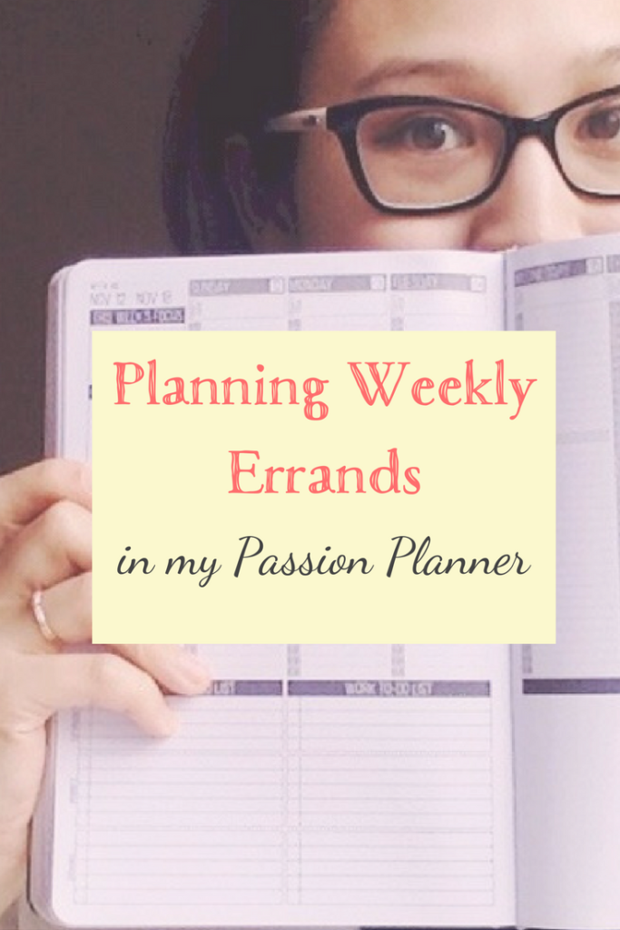 Errands in my Passion Planner