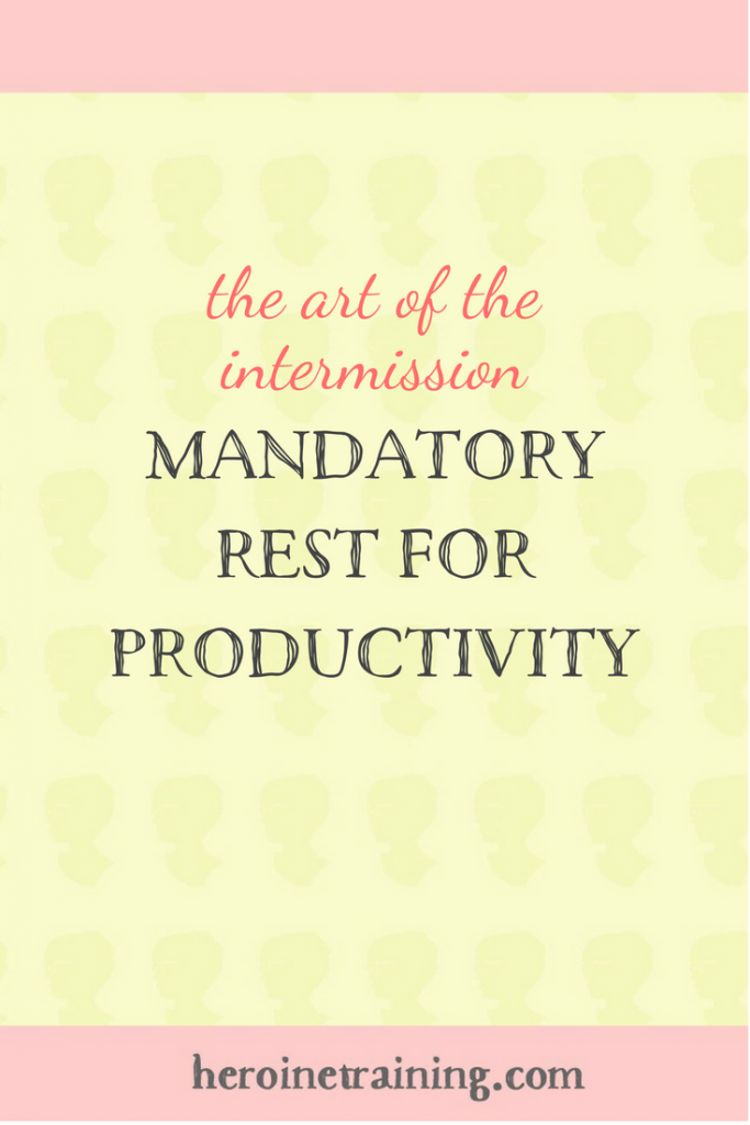 The Art of the Intermission: Mandatory Rest for Productivity