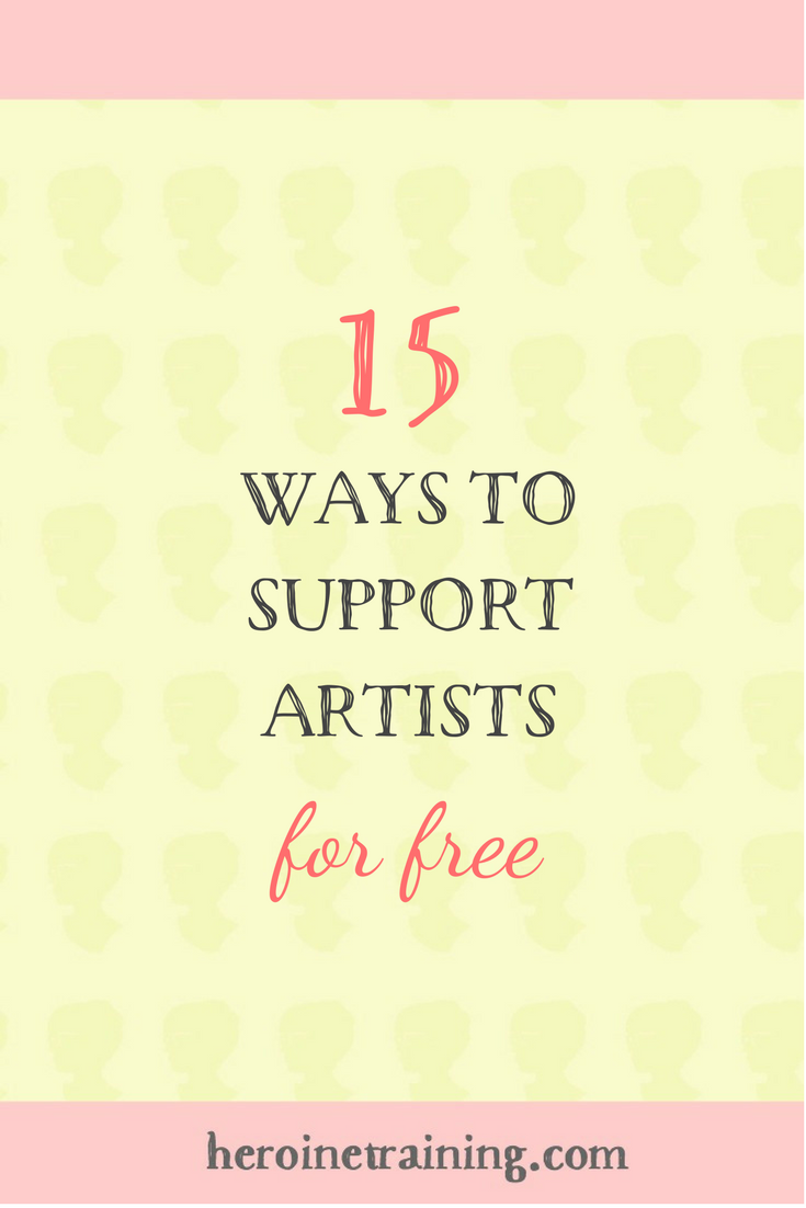15 Ways to Support Artists for Free