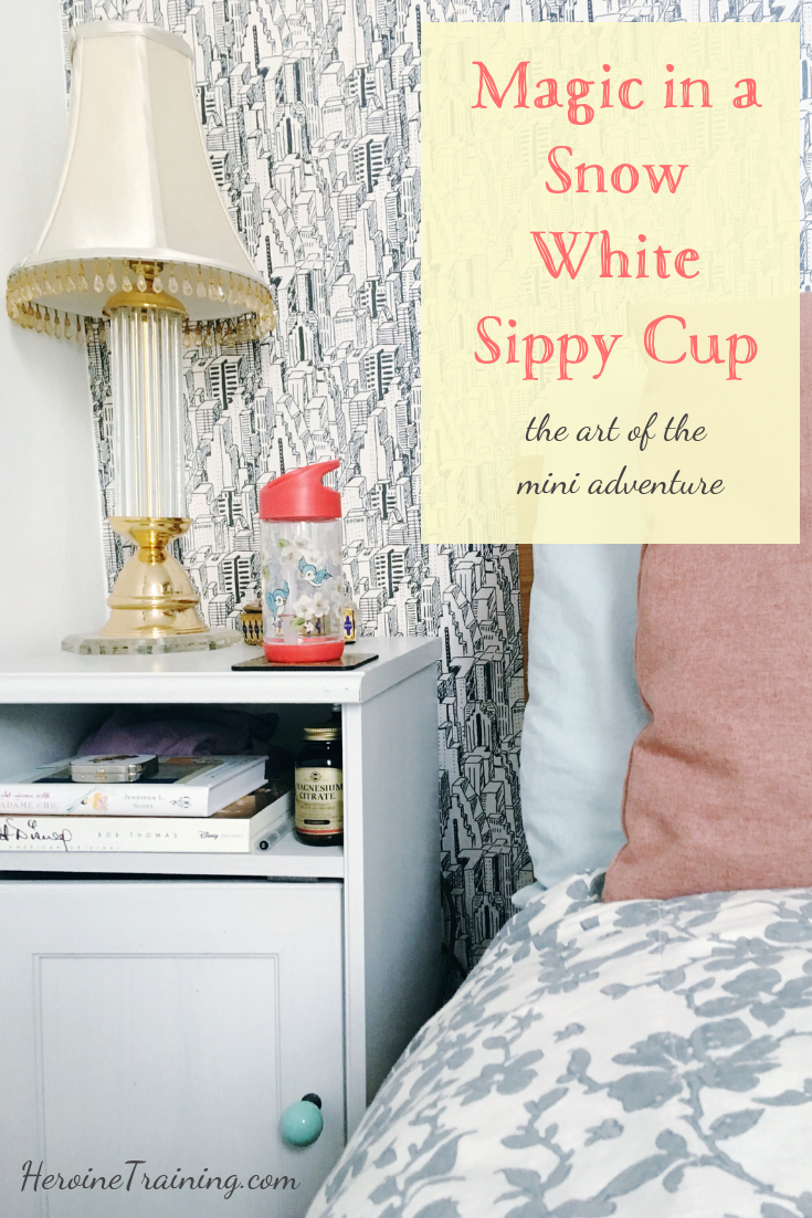 Magic in a Snow White Sippy Cup.