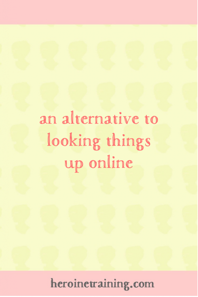 An Alternative to Looking Things Up Online
